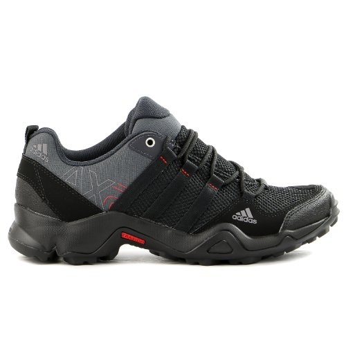 adidas Outdoor AX 2 Hiking Shoe - Mens Dark ShaleBlackLight Scarlet 11