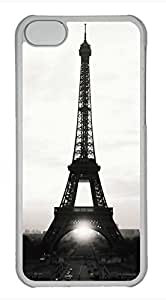 iPhone 5c case, Cute Eiffel Tower White And Black iPhone 5c Cover, iPhone 5c Cases, Hard Clear iPhone 5c Covers
