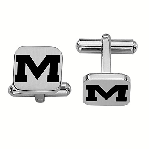 Ole Cufflinks Rebels Miss - College Jewelry Mississippi Rebels Ole Miss Stainless Steel Square Cufflinks