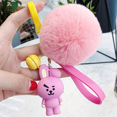 PAPRING Cooky Plush 2.3 inch Keychain Small Toy Tiny Collectable Christmas Halloween Birthday Gift Cute Accessories Collectibles New Doll Animal Decoration Collection Collectible for Kids Adults