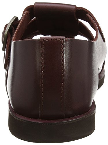 Red Tape Rav Sandales fermé Bout Bordo Marron Homme gpgqxr1w