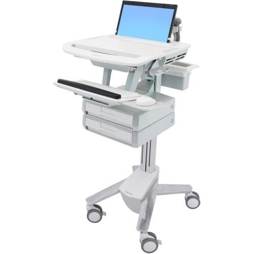 Ergotron SV43-1120-0 STYLEVIEW LAPTOP CART, 2 DRAWERS - Ergotron Styleview Laptop