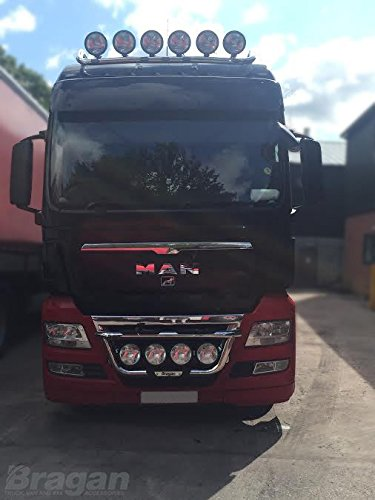 Man TGX Acero Inoxidable parrilla Light Bar Un camión con ...