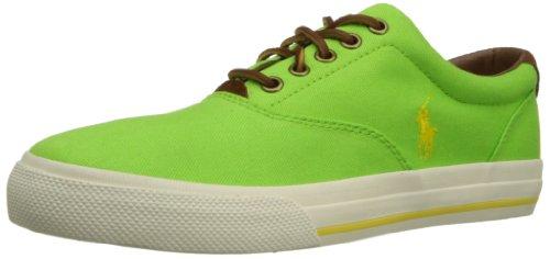 Polo Ralph Lauren Men's Vaughn Fashion Sneaker,Racing Green/Hampton Yellow,8 D US (Polo Racing Mens)
