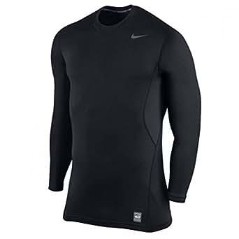 Nike Mens Pro Combat Hyperwarm Fitted 1.2 Crew Sweatshirt XXXL Black