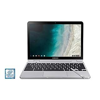 "Samsung Chromebook Plus V2, 2-in-1, Intel Core m3, 4GB RAM, 64GB eMMC, 13MP Camera, Chrome OS, 12.2"", 16:10 Aspect Ratio, Light Titan (XE520QAB-K02US) (Renewed)"