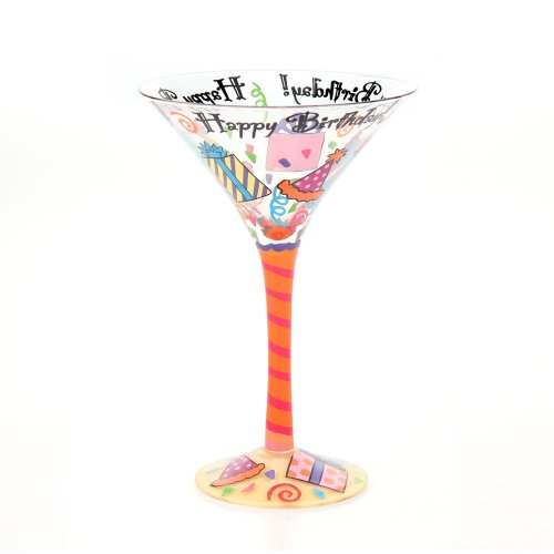 (Top Shelf Happy Birthday Martini Glass)