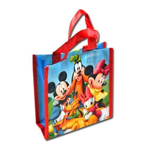 Woven Mini Labels - 12-Pack Disney Mickey Mouse Clubhouse Non-Woven Reusable Mini Party Tote Bags