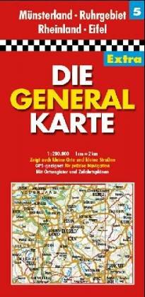 Die Generalkarten Deutschland Extra, 12 Bl, Bl.5, Nordrhein-Westfalen, Rheinland-Pfalz Nord (Série Régionale)