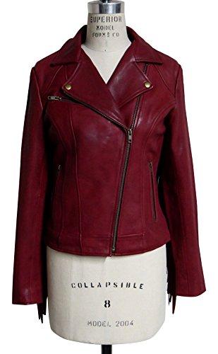 Leather Fringed Motorcycle Jacket - 4