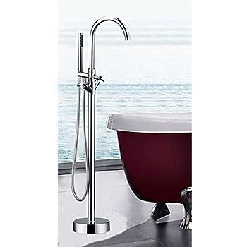 Votamuta Modern Nickel Brushed Free Standing Bathtub