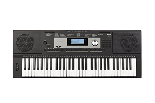 Medeli M331 61-Key Portable Electronic Keyboard with Interactive LCD Screen & Includes power supply