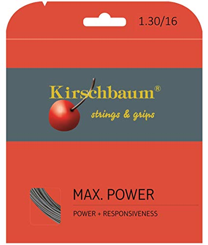 Kirschbaum Reel MAX Power Rough String, Grey, 16-Gauge (Renewed)