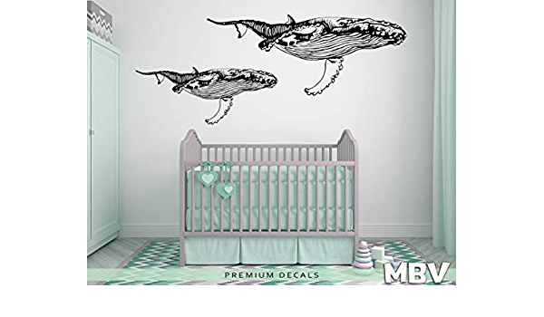 Whale StickerWhales Wall DecalsFish Wall DecalKids Room Wall DecalHome DecorNursery Wall DecalGift DecalBathroom decal