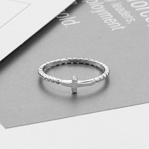 Furious Jewelry 925 Sterling Silver Simple Cross Ring, Size 6 7 8 (6) by Furious Jewelry (Image #2)