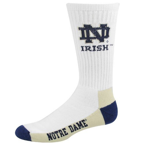 NCAA Notre Dame Fighting Irish Crew Socks, Large - Notre Dame Fan Gear