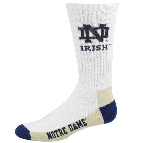 (NCAA Notre Dame Fighting Irish Crew Socks, Large)