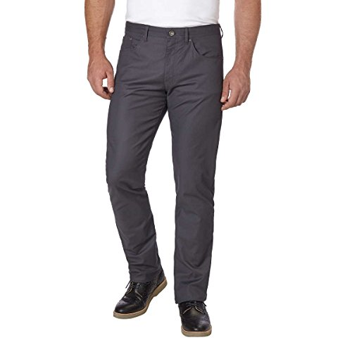 Calvin Klein Men's Stretch Slim Fit Twill Pant (Asphalt, 40W x 32W) (Calvin Klein X Slim Fit Suit Grey)