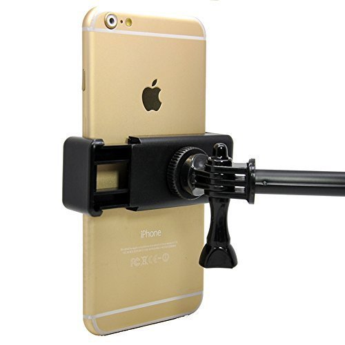 Xinksd Universal Tripod Mount Adapter for Smart Phones 2.3-3.3' Wide, Holder Clip Attachment Clamp