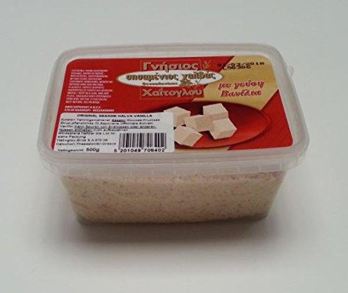 Halvas aus Sesam Vanille 500 gr aus Griechenland griechischer Halva Vanilla