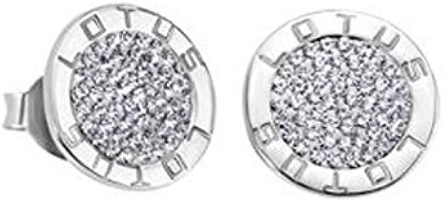 Lotus Silver - Pendientes con zirconitas - LP1252-4/1