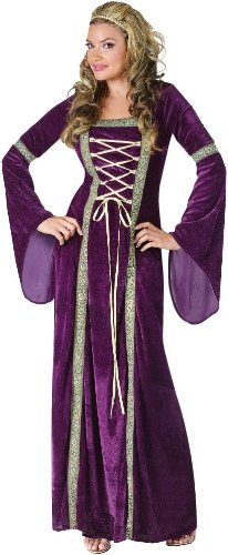 Fun World Costumes Funworld Deluxe Renaissance Lady, Purple, Small/Medium 2-8 - Purple Velvet Dress Costume