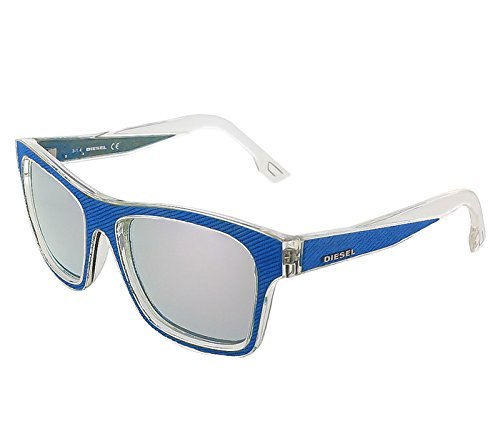 Sunglasses Diesel DL 71 DL0071 86C light blue/other / smoke - Sunglasses Diesel Mirror