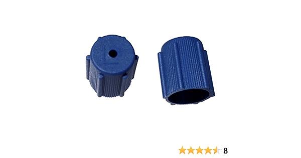 Threads M8x1.0 A//C Service Valve Cap 13mm Low Side Blue