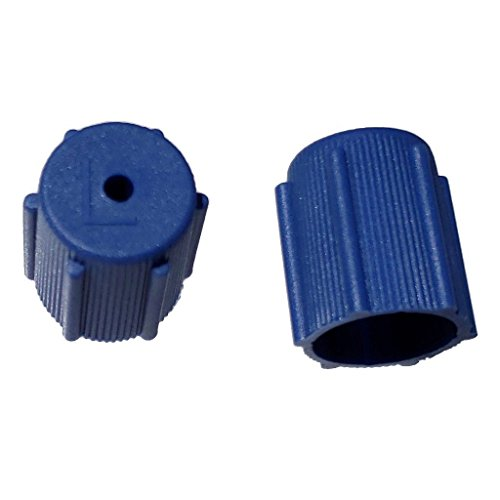 Buy Auto Supply # BAS03036 (50 Count) M8x1.0 Thread Blue Low Side A/C Service Cap Charge Port Valve for Air Conditioning Systems Aftermarket Replacement For MT0063, 59987
