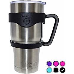 Handle for YETI Cup 30 oz - Ozark Trail - RTIC (PREVIOUS DESIGN) - Simple Modern - Atlin & Other 30 oz Tumblers. CHILLOUT LIFE Anti-Slip Handle BPA-free (Black Handle Only)