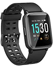 BingoFit Eden Smart Fitness Watch,Water Resistance Activity Tracker Smartwatches with Heart Rate Monitor Sleep Tracker,Touch Screen Sport Watch with Music Control for Kids Men Women,IOS Adroid