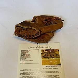 1960's Vada Pinson Signed Game Model Baseball Glove COA Cincinnati Reds RARE JSA Certified Autographed MLB Gloves