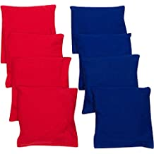 Trademark Innovations 4-Inch Starter Set Cornhole Bean Bags, Set of 8, Red and Blue
