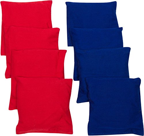 Trademark Innovations Starter Set Cornhole Bean Bags (8 Set), Red/Blue, 7