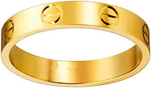 Fire Ants Love Ring-Gold Lifetime Just Love You With(Size:5-10)