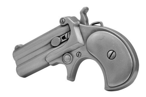 Buckle Rage Adult Unisex Derringer Handgun Pistol Revolver Belt Buckle Silver (Buckle Revolver)