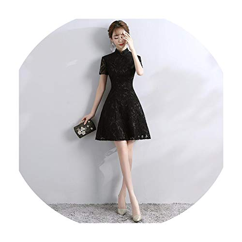 Vintage Improved Party Dress Traditional Mandarin Collar Cheongsam Qipao Vestidos Evening Gowns,Style ()