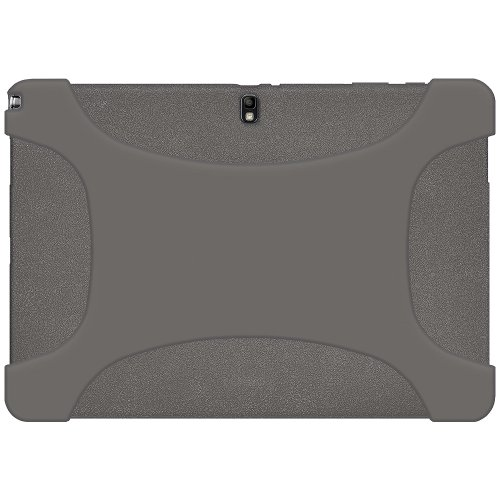 Amze Soft Silicone Jelly Skin Case Back Cover for Samsung GALAXY Note PRO 12.2/Tab PRO 12.2, Grey(AMZ96920)