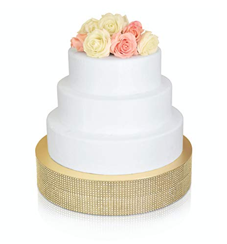 """ OCCASIONS"" Bling Wedding Cake Stand (holds 150 lbs) Cupcake Base, Decorative Centerpiece for Parties (16"