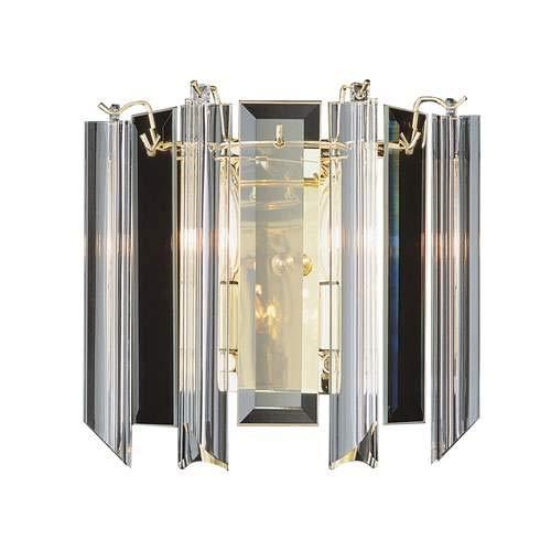 Trans Globe Polished Brass 2-Light Wall Sconce 7162PB