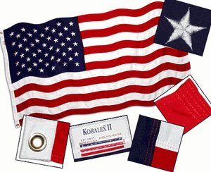 4x6 FT Valley Forge Koralex US American Flag 2 Ply Polyester Commercial Grade ()