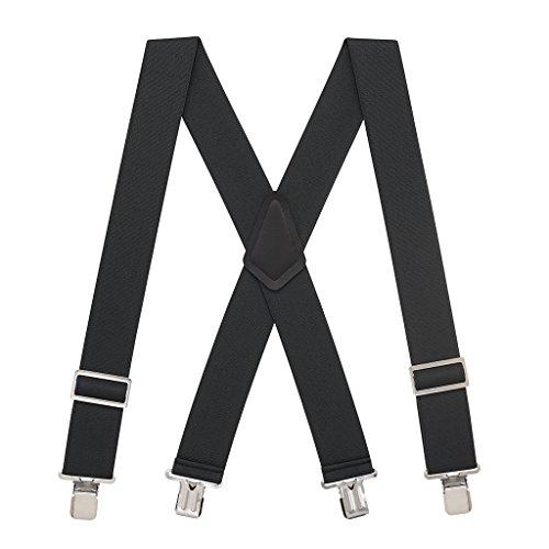 Suspender Store Mens BLACK Logger Suspenders - 2 Inch Wide - - Store Men For