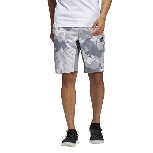 adidas mens Camo City Long Shorts White Medium