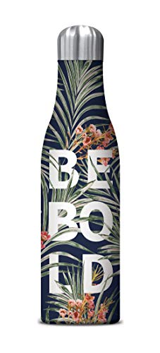 Studio Oh! 17 oz. Insulated Stainless Steel Water Bottle Available in 9 Designs, Floral Expressions BE BOLD