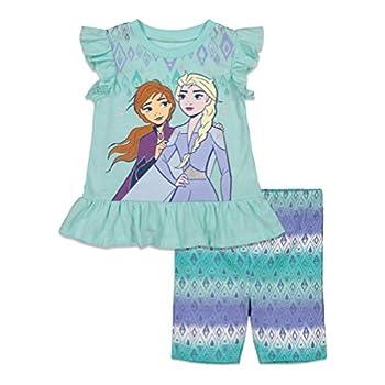 Disney Frozen Elsa Anna Ladies Vogue T-Shirt and Bike Shorts Set