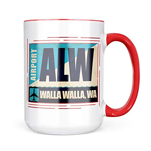 Neonblond Custom Coffee Mug Airportcode ALW Walla Walla, WA 15oz Personalized Name