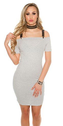 In-Stylefashion - Vestido - cuello hálter - para mujer gris