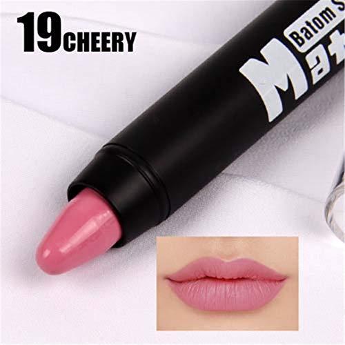MEIJUIES Matte Lipstick Crayon Sexy Mate Waterproof Lip Tint Levre Velvet Lip Stick Cosmetics Pigment Long Lasting Rouge 19 -