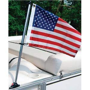Taylor 922 PONTOON FLAG POLE SOCKET WITH FLAG / 30IN PONTOON RAI