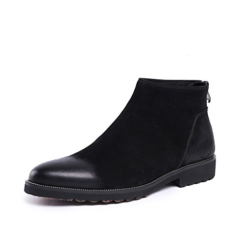 Pointed men's fashion formal leather boots ankle boots - 7